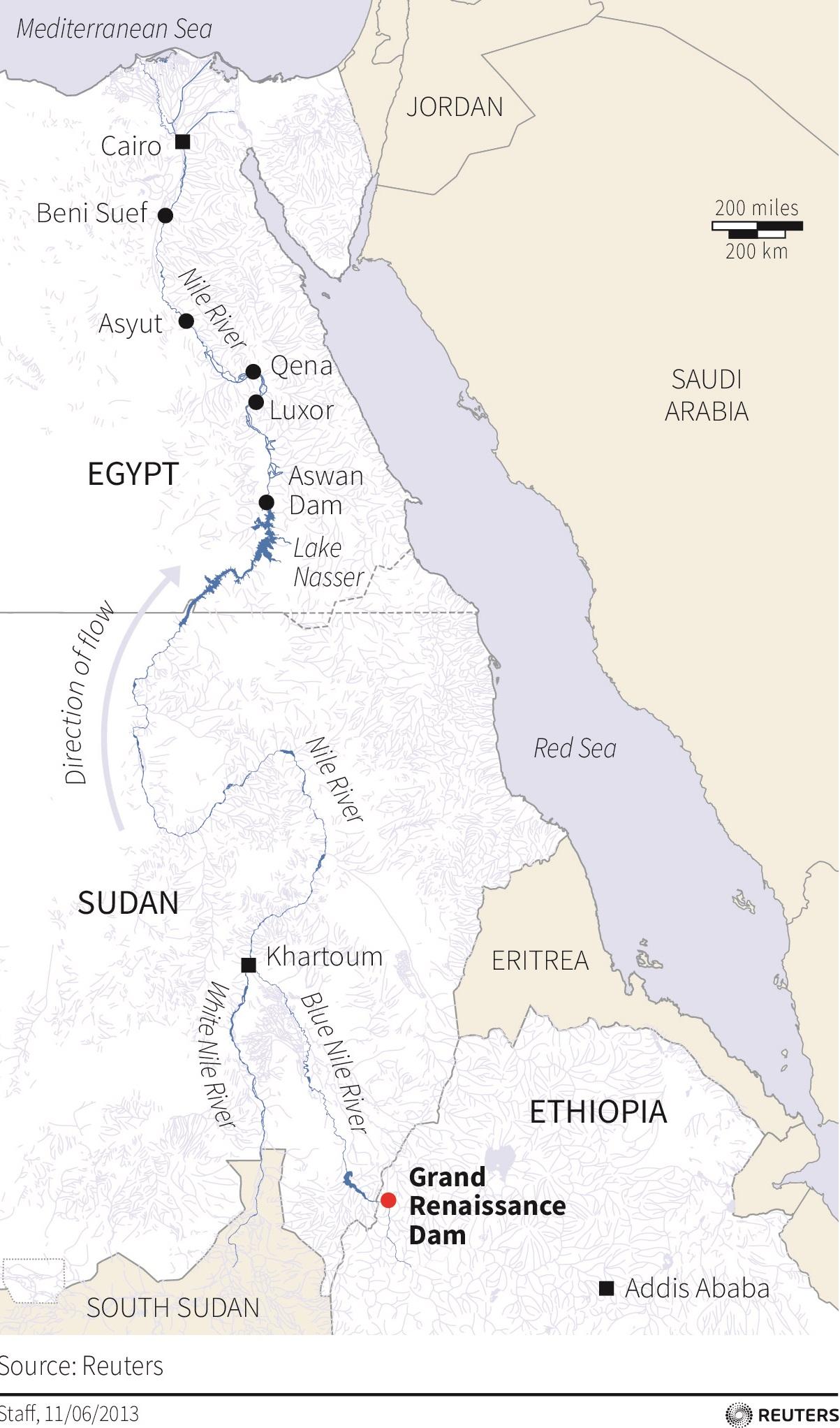 Grand Ethopia Renaissance Dam Nile Map (cropped)