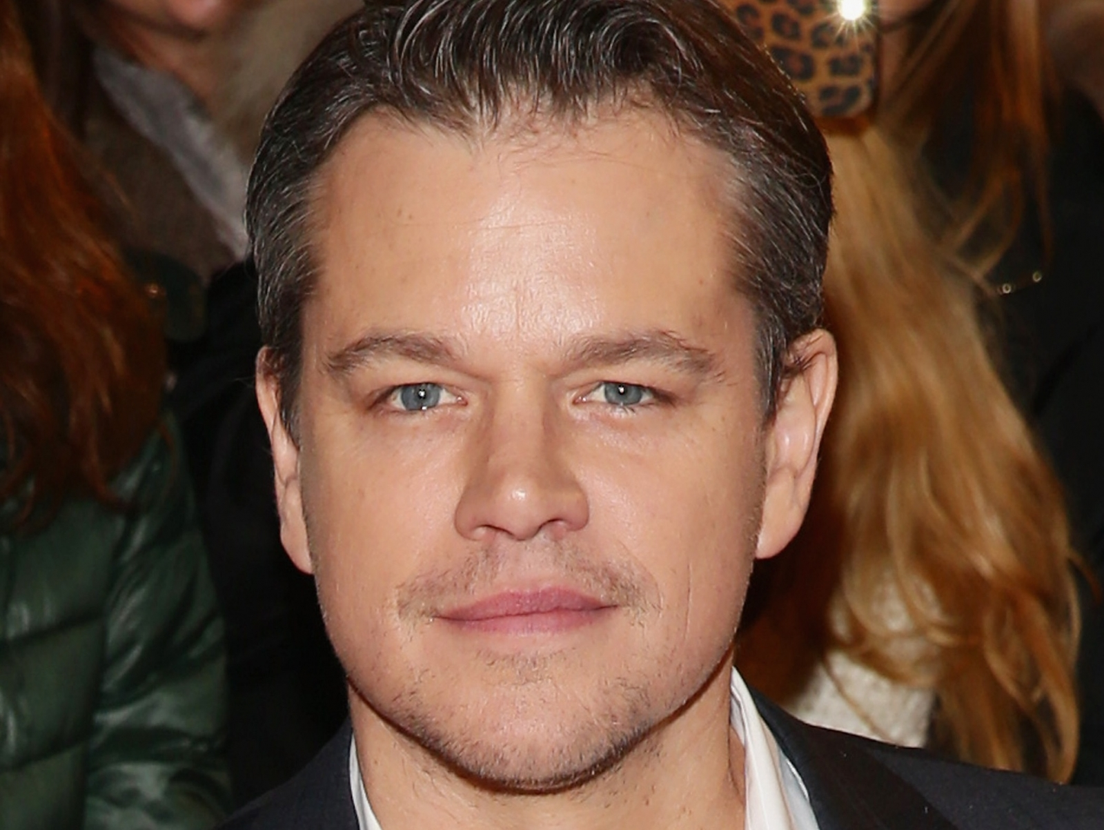 Matt Damon attends 'The Monuments Men' premiere