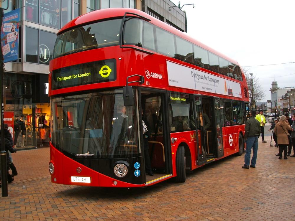 Driverless bus self-driving car