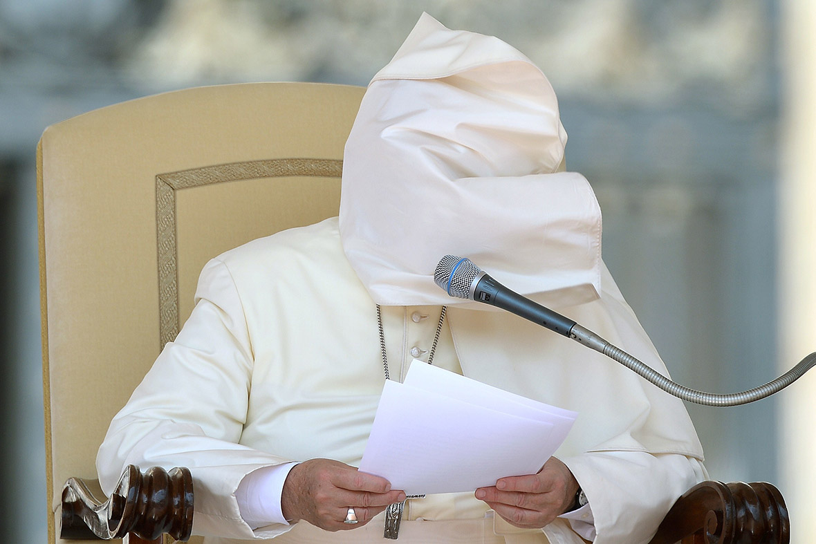 pope mantle wind