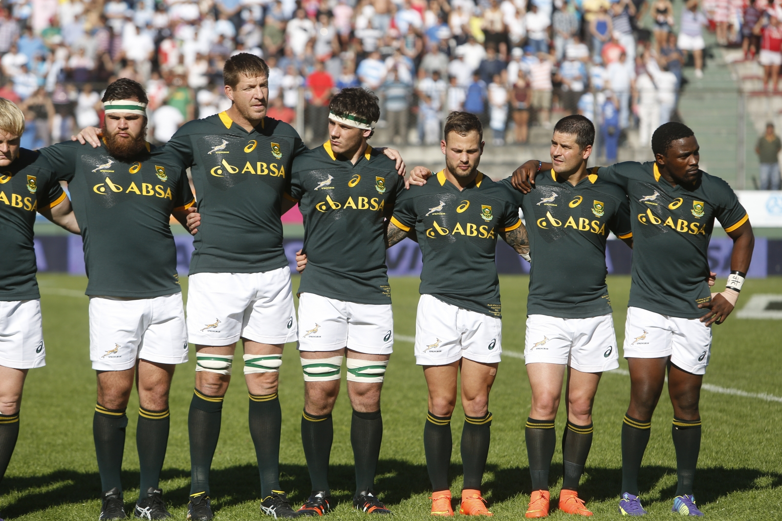 Springboks South Africa rugby team singing national anthem