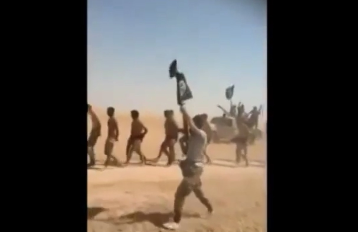 Isis video Assad soldiers