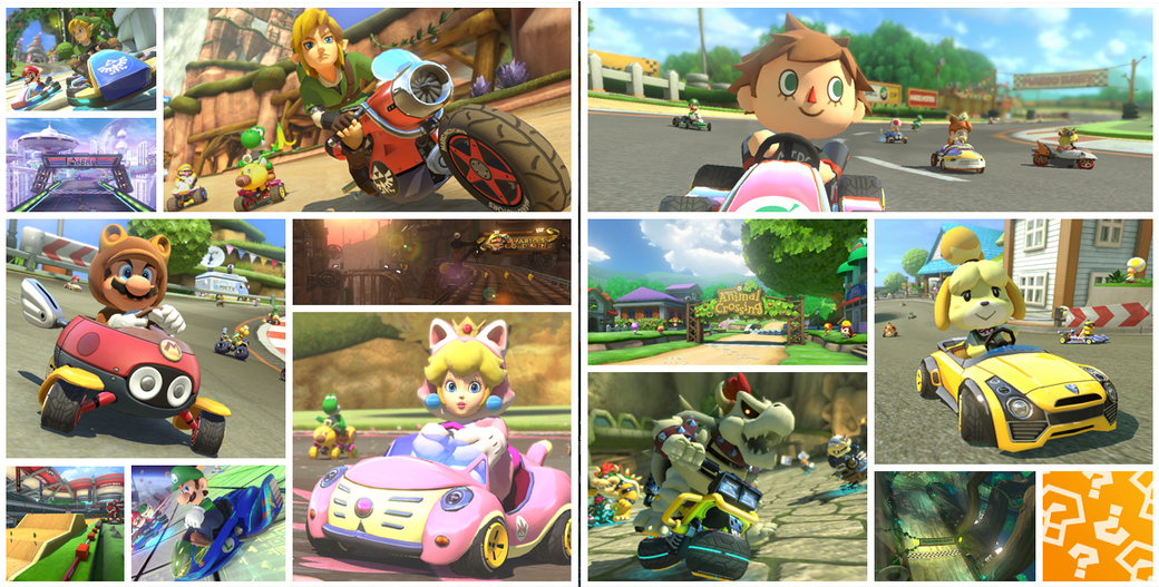 Mario Kart 8 DLC to Include Animal Crossing and Zelda