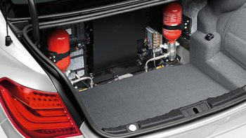The boot of the BMW X5 Security Plus comes with an onboard self-fire fighting system