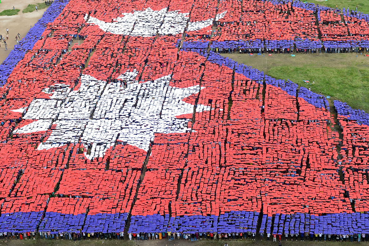 nepal flag people record