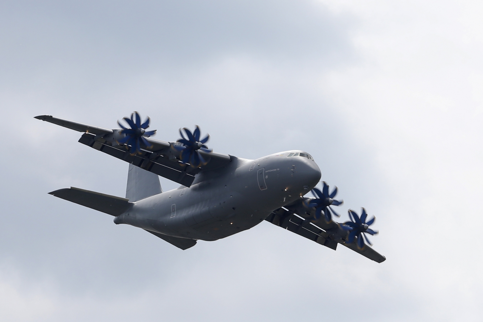 An Antonov An-70 four-engine, military aircraft