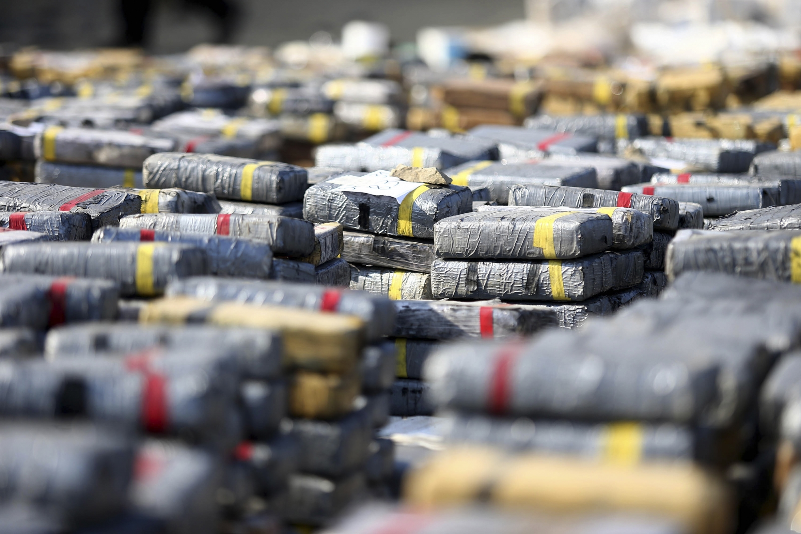 Cocaine seized by police in Huanchaco, Peru. (Reuters)