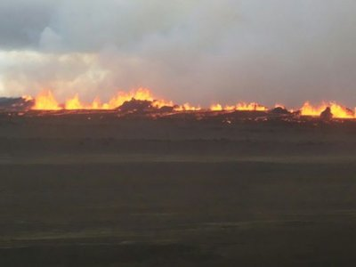 Iceland Bardarbunga volcano eruption flights