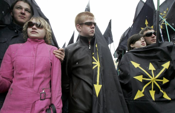 A Moscow rally of Drugin's youth group the Eurasian Youth Union. (Reuters)