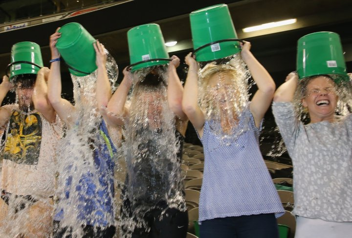 People in Melbourne take the ice bucket challenge. But how is the money they raised being spent? (Getty)