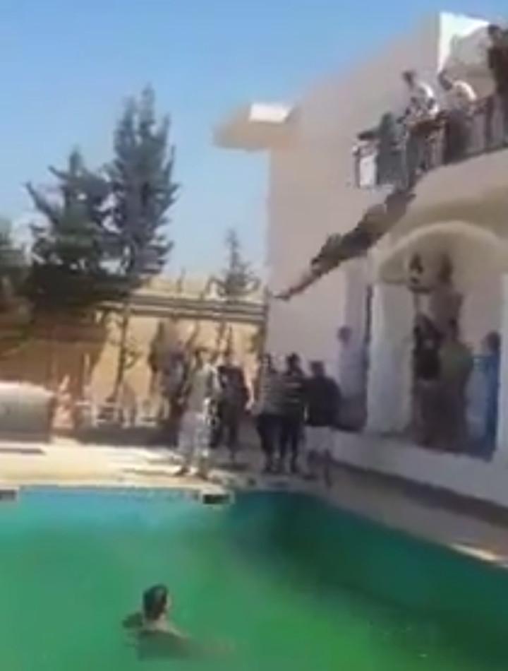 Dawn of Libya US embassy Tripoli Libya Swimming pool video