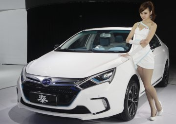 BYD Qin electric car