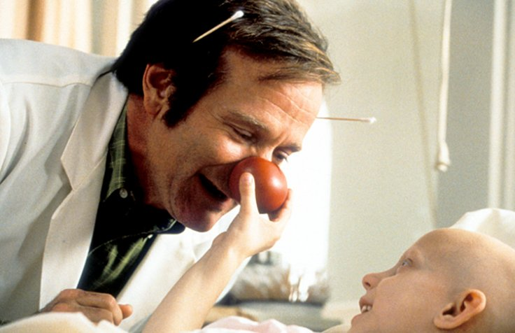 Robin Williams starred in the 1998 semi-biographical film about Dr Patch Adams