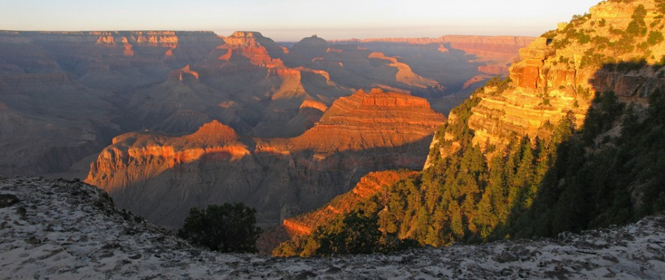 Grand Canyon: Sunset Near Yaki Point Summer