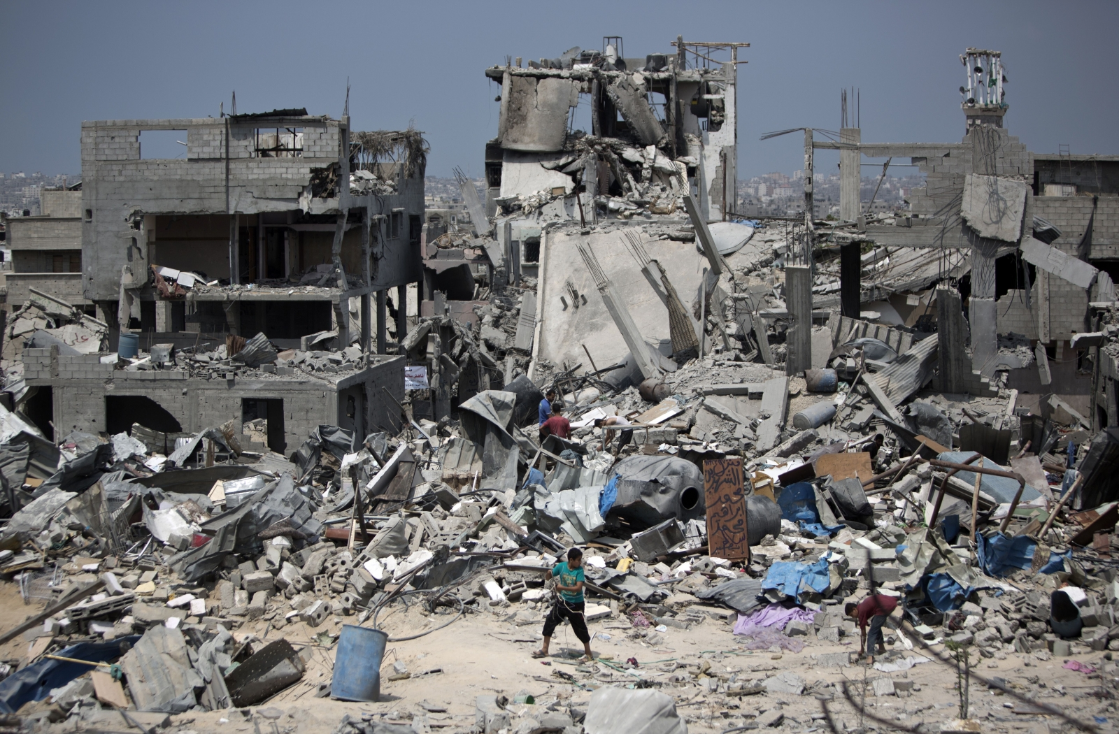 Gaza devastation rubble