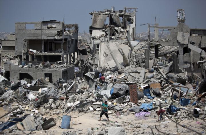 Gaza devastation rubble