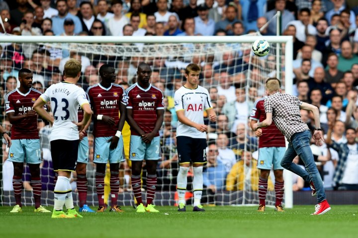 Jordan Dunn hit free kick as well as Spurs player Christian Eriksen, said judge Branston