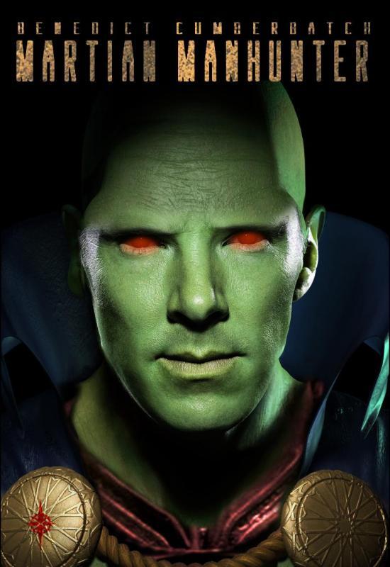 Benedict Cumberbatch as Martian Manhunter fan-art