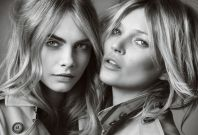 Burberry Campaign Cara Delevinge and Kate Moss