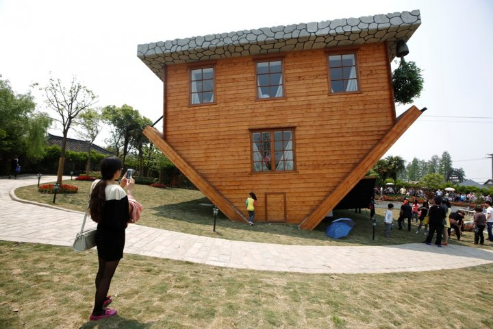 Upside-Down House Tourist Attraction China