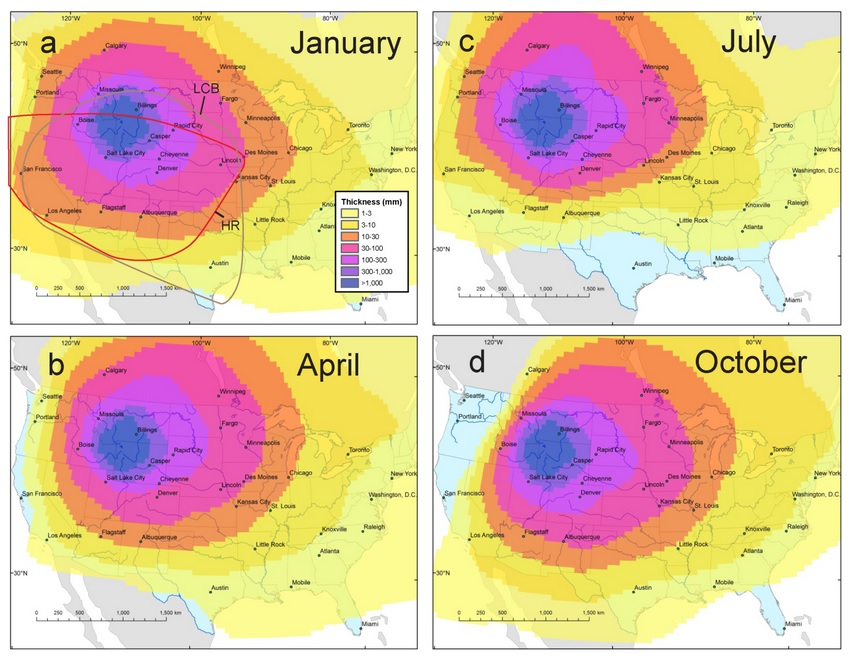 What Will Happen If Yellowstone Volcano Erupts - Us volcano map