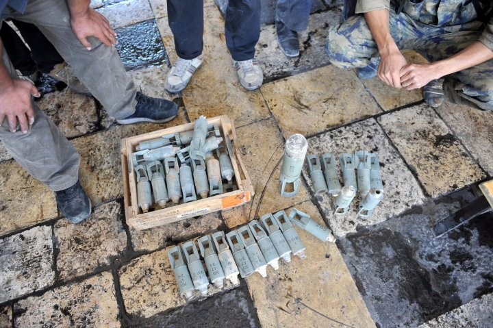 ISIS cluster bombs