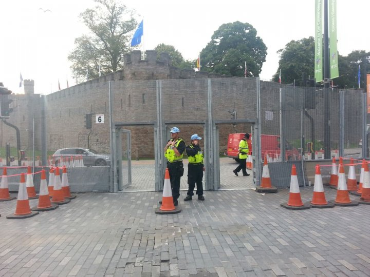 Nato Summit 2014: Cardiff Castle 'Ring of Steel'