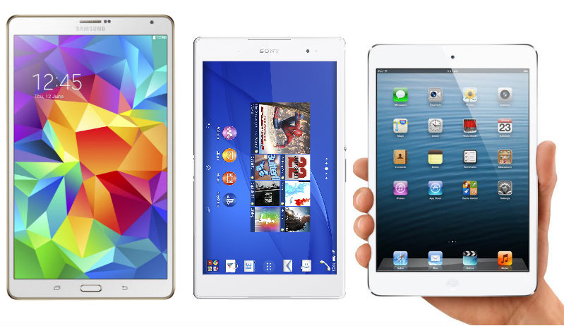 Xperia Z3 Tablet Compact vs Samsung Galaxy Tab S vs Apple iPad mini 2