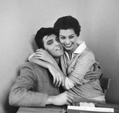 Elvis Presley and Sophia Loren, 1958