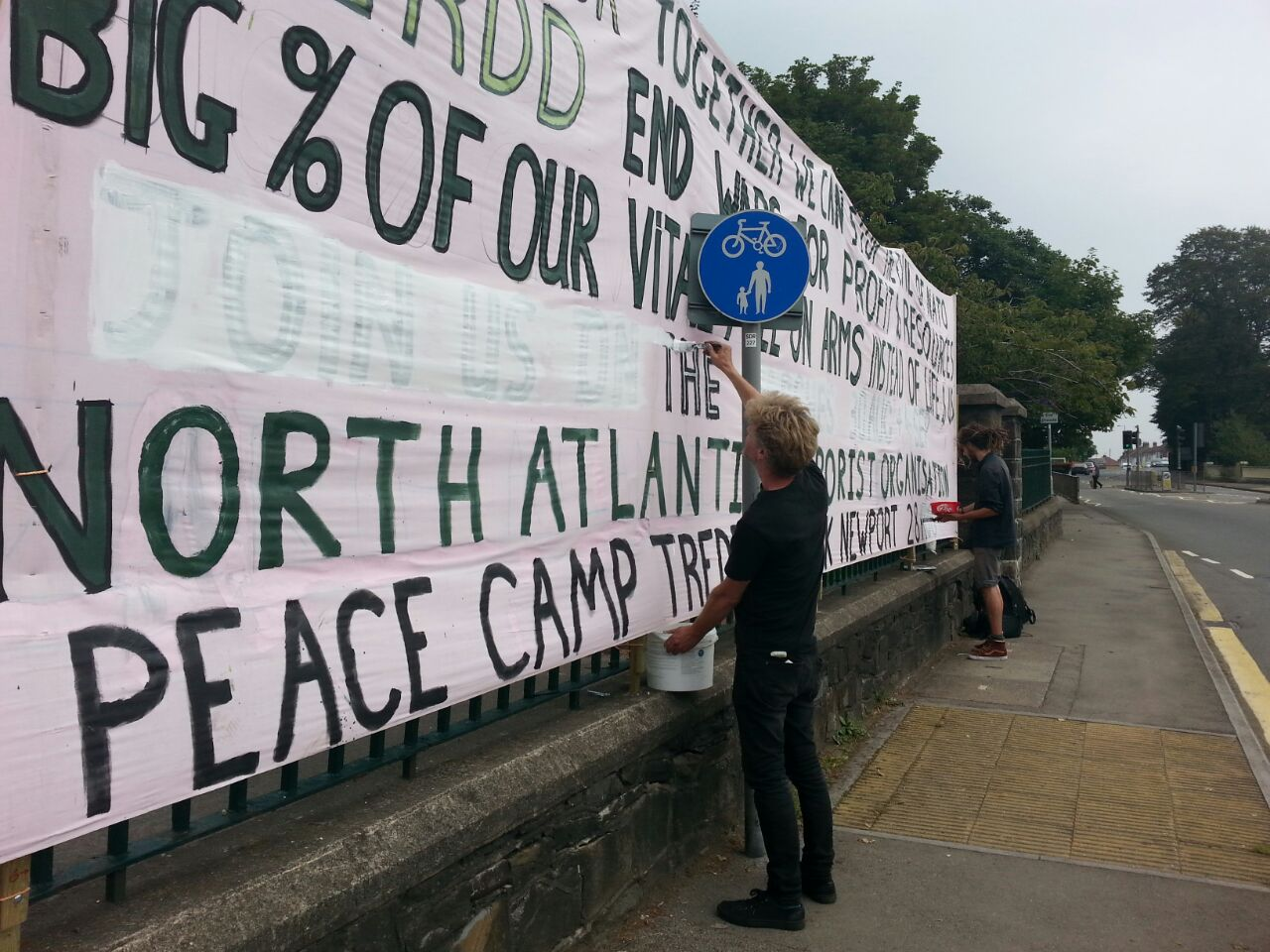 Representatives of the Stop Nato group spoke to IBTimes UK at the 'Peace Camp' in Tredegar Part outside Newport
