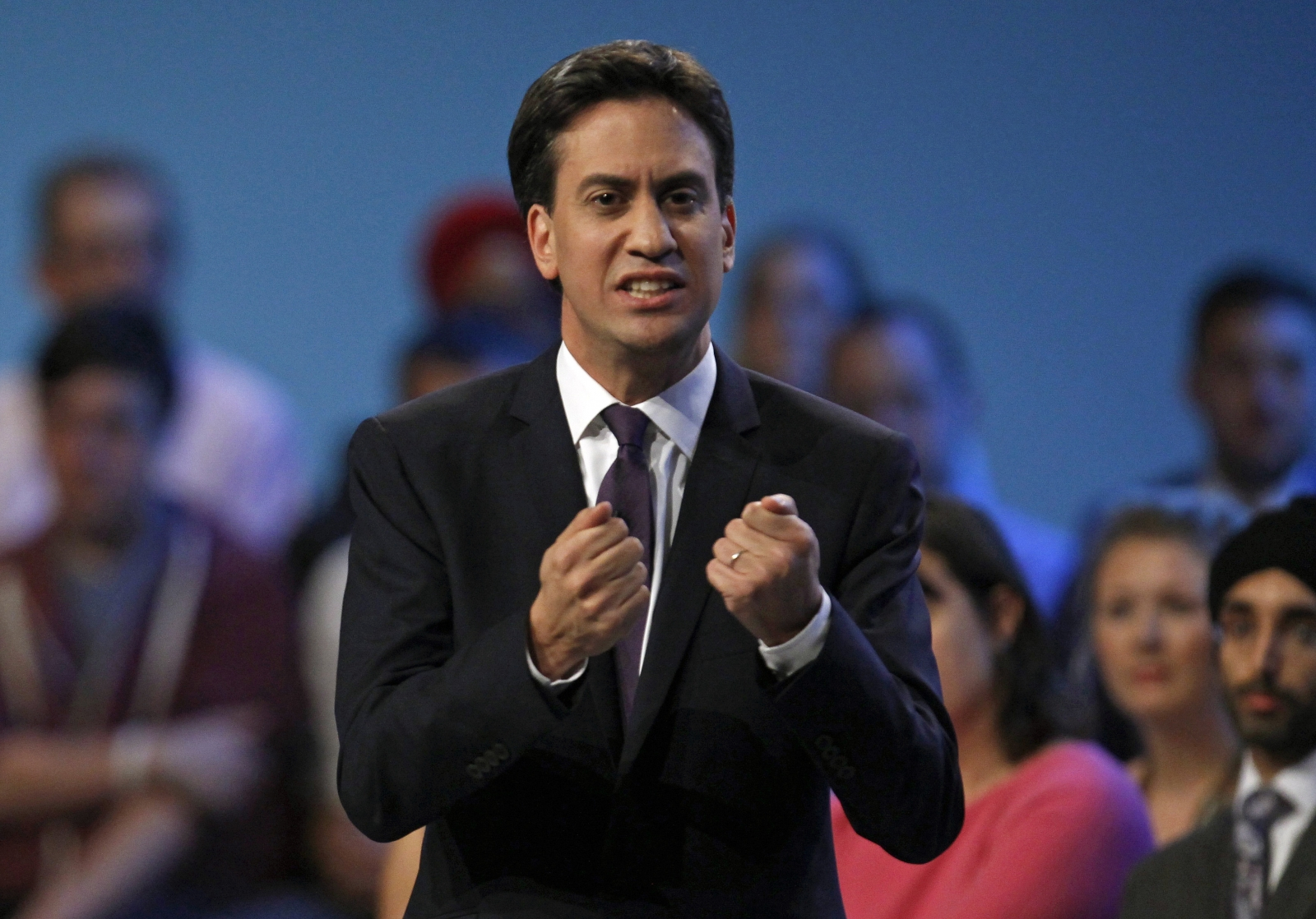 Britain's opposition Labour party leader Ed Miliband