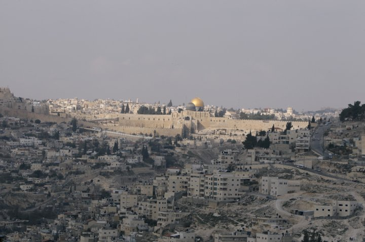 A view of the Dome of the Rock on the compound known to Muslims as al-Haram al-Sharif, and to Jews as Temple Mount, in Jerusalem's Old City is seen from the West Bank village of Jabel Mukaber