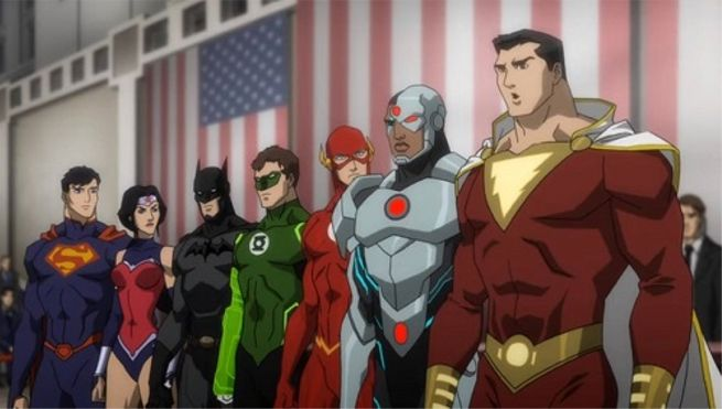 Shazam with The Justice League