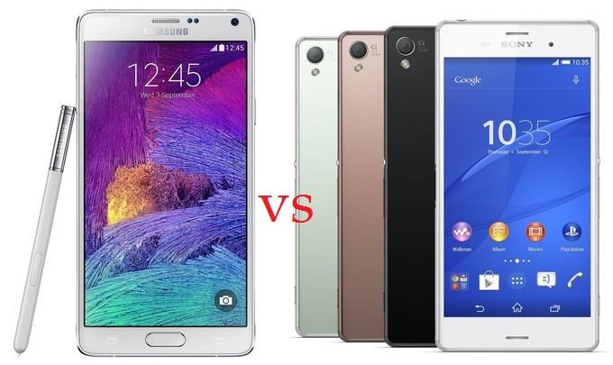 Samsung Galaxy Note 4 vs Sony Xperia Z3: Battle of Quad-Core Giants