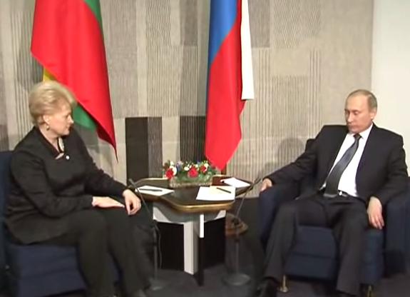 Dalia Grybauskaitė and Putin