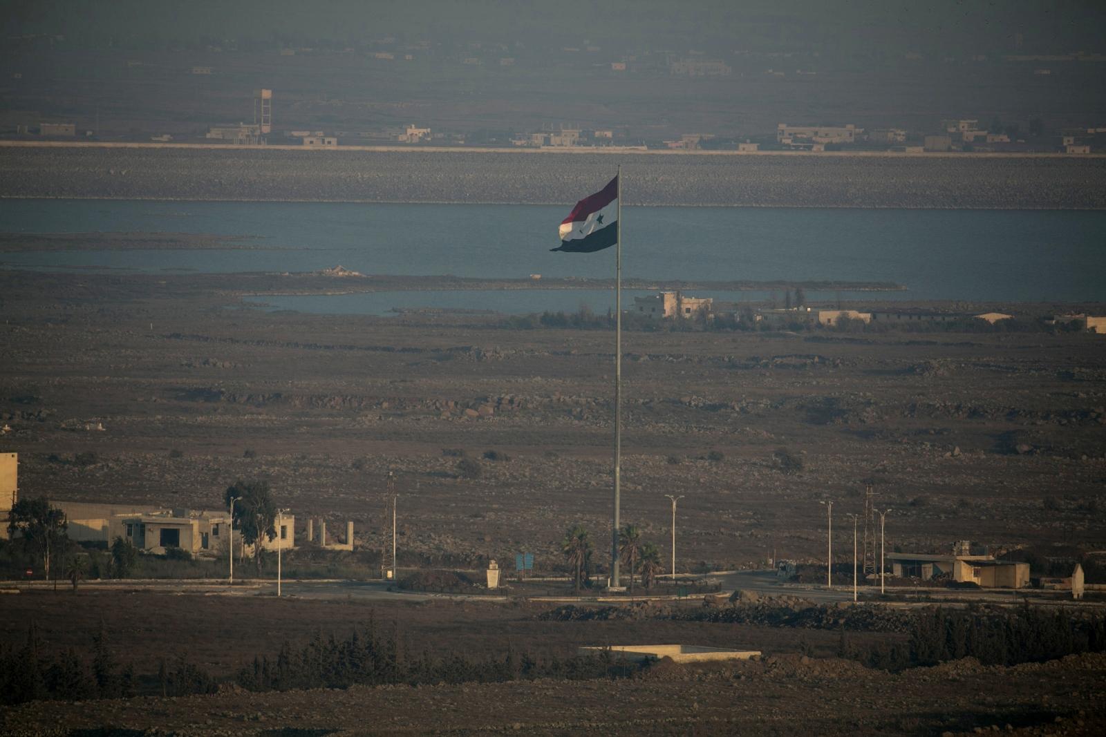 A Syrian flag