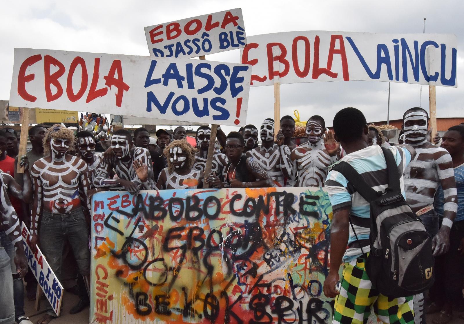Ebola protests