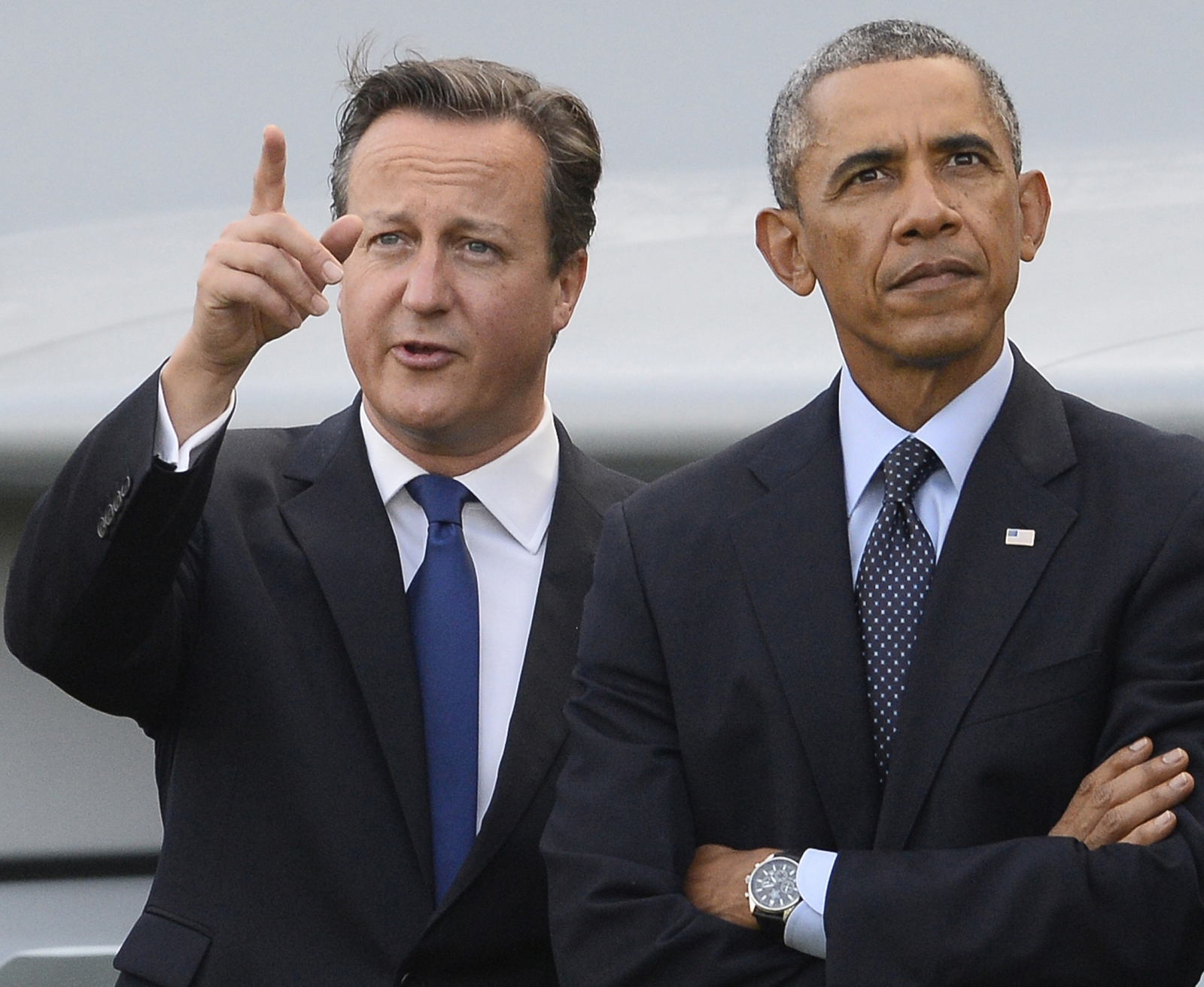cameron and Obama at nato summit 2014 in wales
