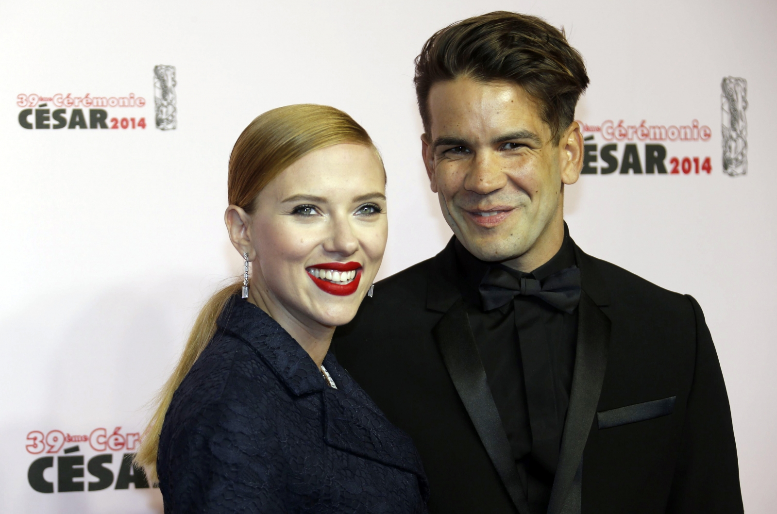 Scarlett Johanssen and Romain Dauriac
