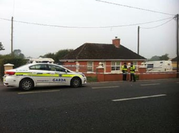 The Irish Police at the house of the young boys