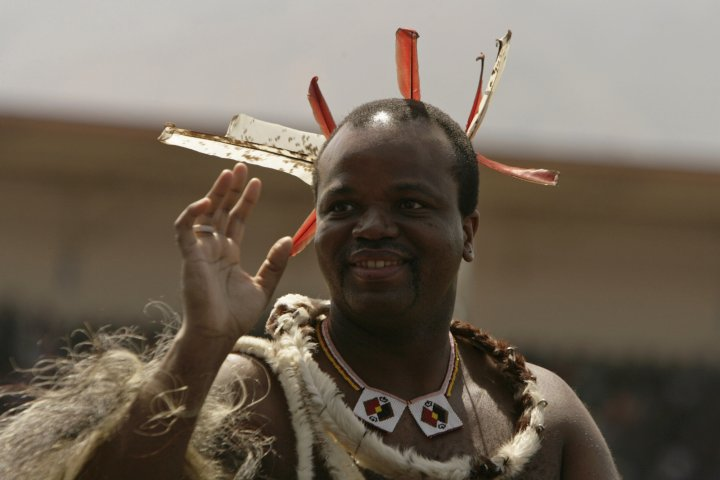 Swaziland King Mswati III picks his 14th wife as 80,000 half-naked girls dance in wedding ceremony