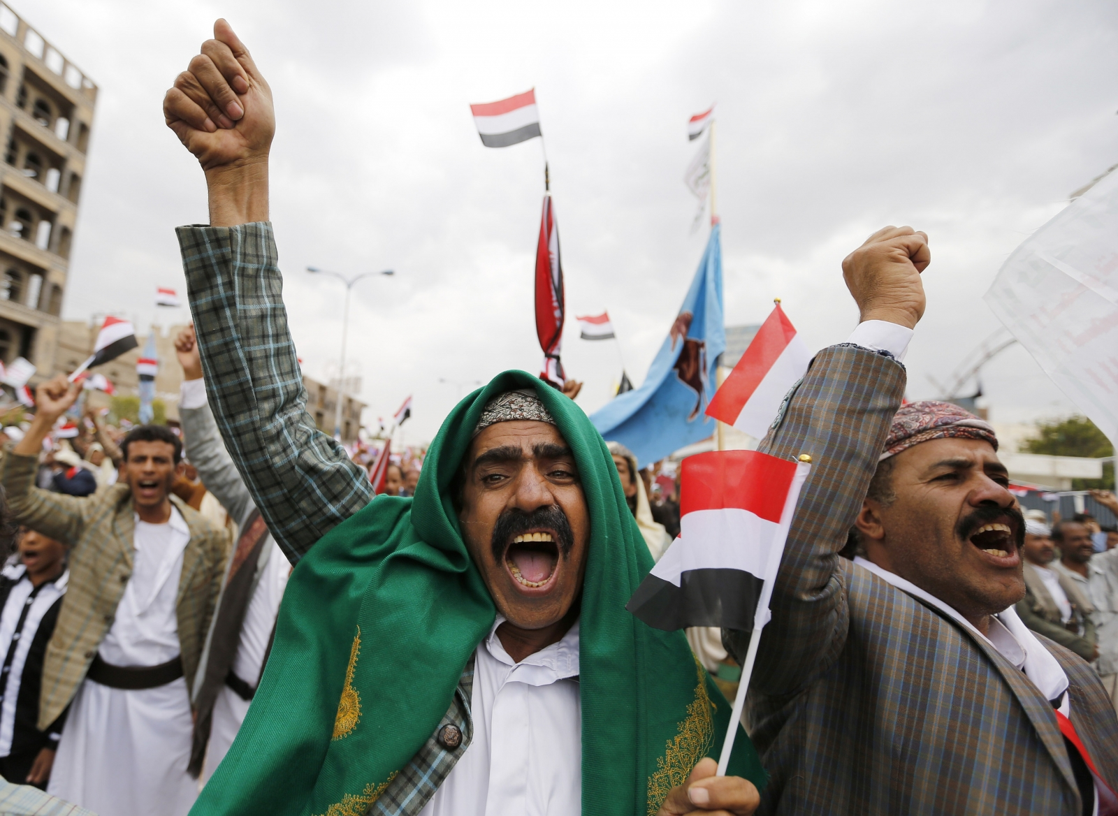 Houthi protest Sanaa