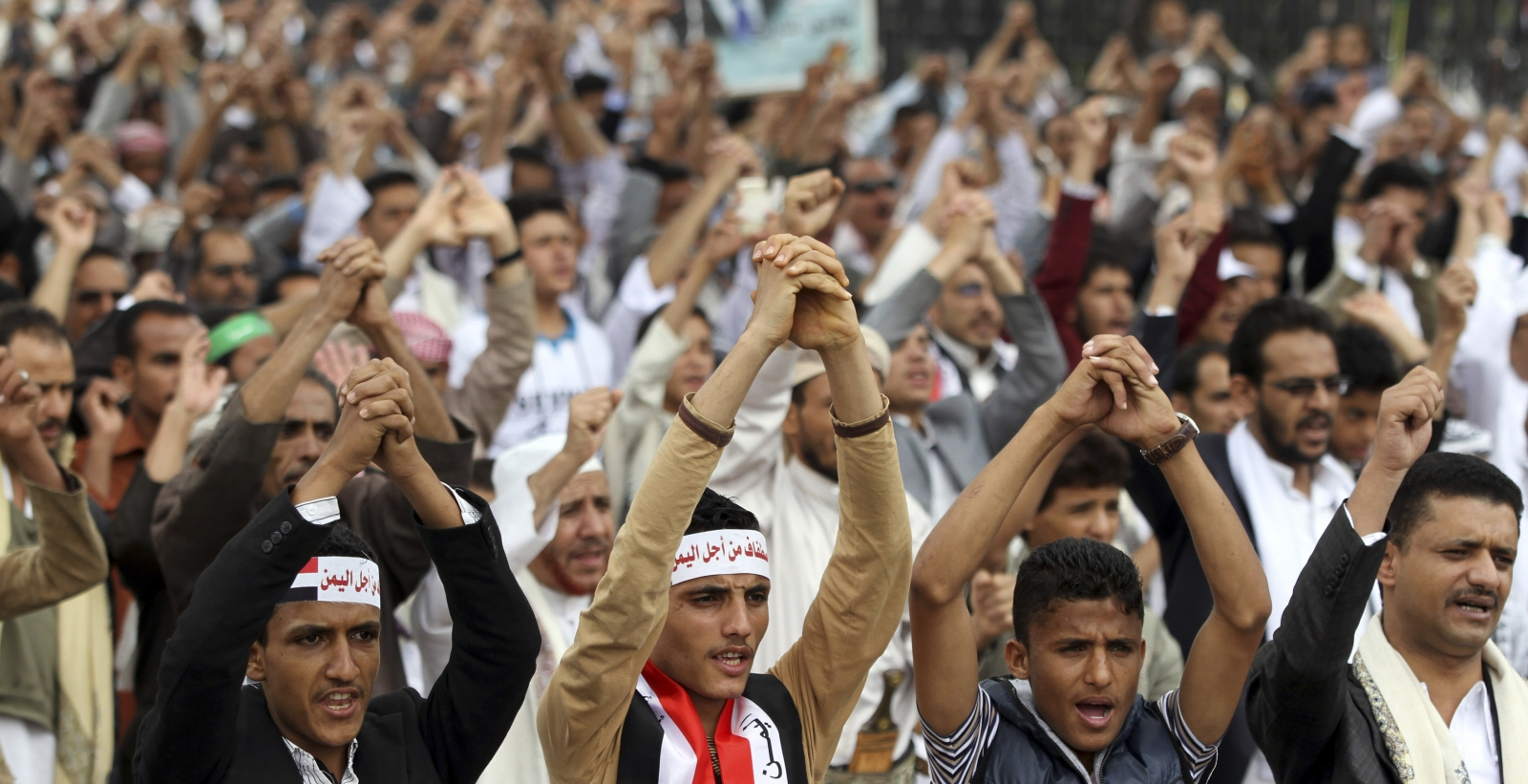pro-government protest Yemen Sanaa