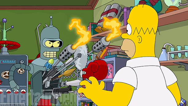 The simpsons-Futurama Crossover