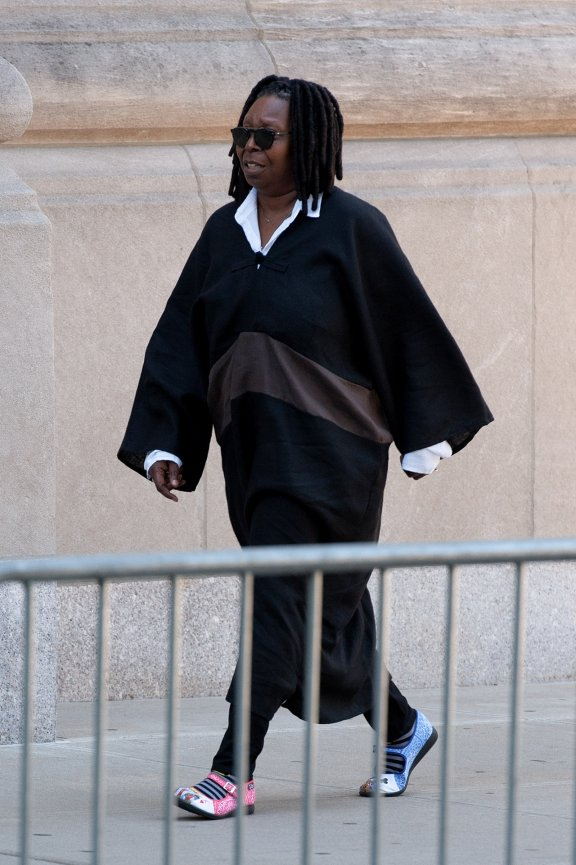 Actress Whoopi Goldberg pays her respects at Joan Rivers' funeral