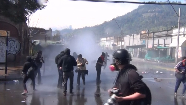 Clashes During Chile Coup Anniversary