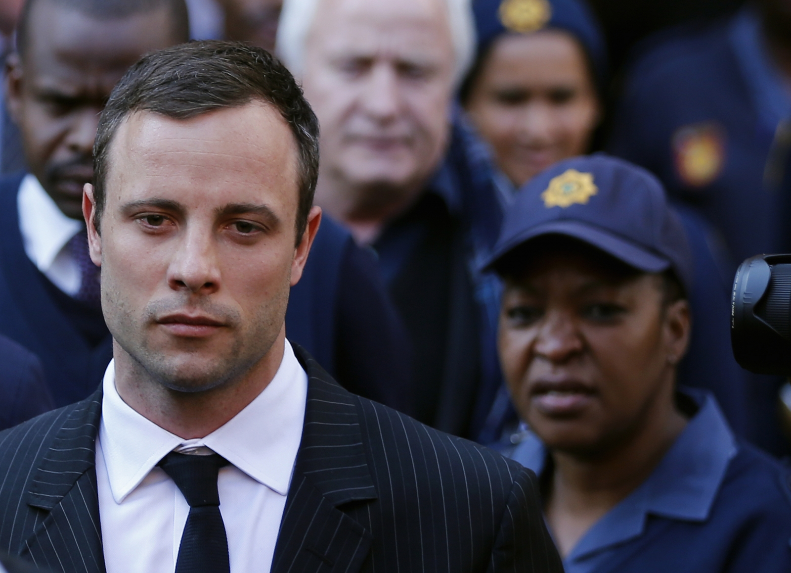 Oscar Pistorius looks to be feeling the weight of Judgement day
