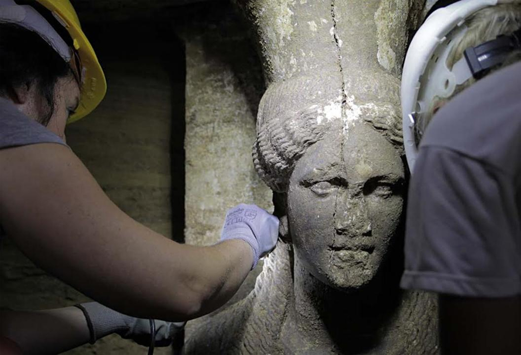 Caryatids have been discovered at the ancient Amphipolis tomb in Greece