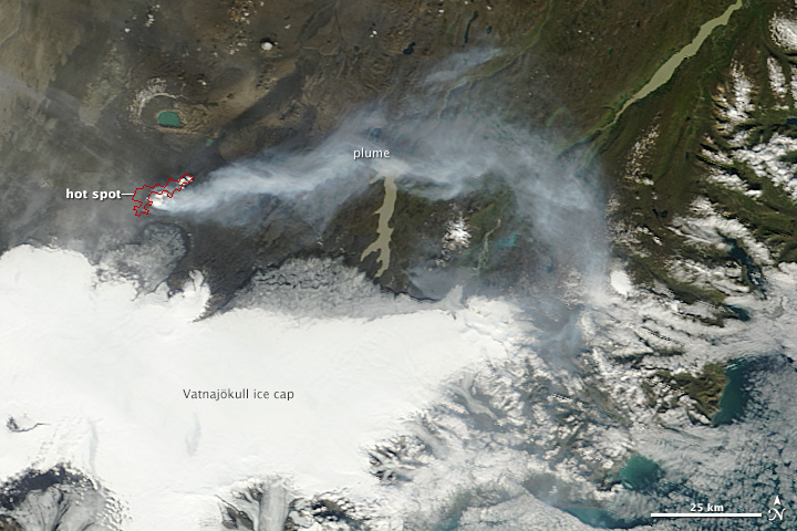 Iceland's bardarbunga Nasa photos