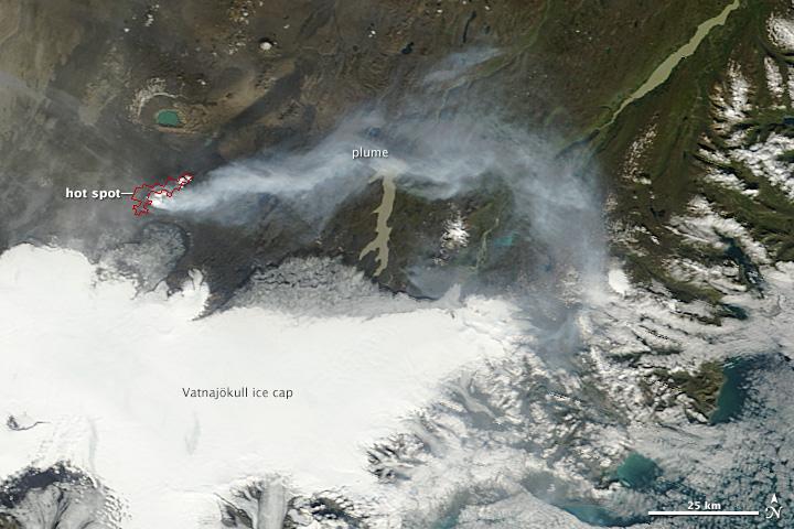 Iceland's bardarbunga Nasa photos